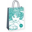 Dárková taška Alfons Mucha – Emerald, Fresh Colletion, střední