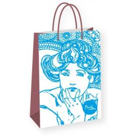 Dárková taška Alfons Mucha – Topaz, Fresh Collection, střední
