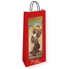 Bottle gift bag Alfons Mucha