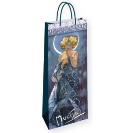 Dárková taška na lahev Alfons Mucha – The Moon