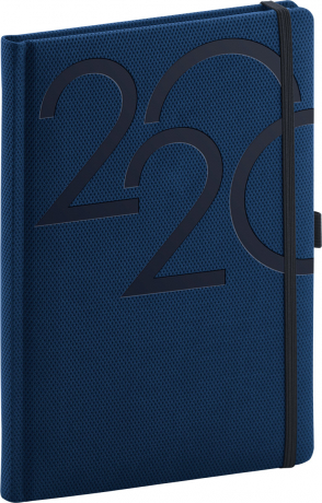 Denní diář Ajax 2020, modrý, 15 × 21 cm