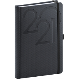 Daily diary Ajax anthracite 2021, 15 × 21 cm