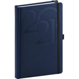 Denní diář Ajax 2021, modrý, 15 × 21 cm