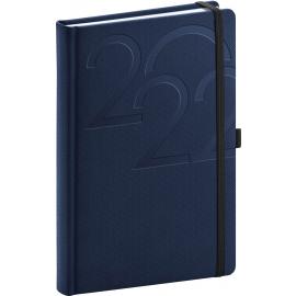 Denní diář Ajax 2022, modrý, 15 × 21 cm