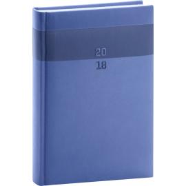 Denní diář Aprint 2018, modrý, 15 x 21 cm, A5