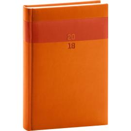 Daily diary Aprint 2018, oranžový, 15 x 21 cm, A5