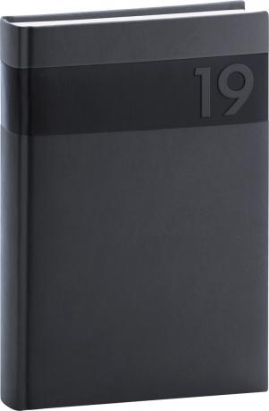 Denní diář Aprint 2019, černý, 15 x 21 cm