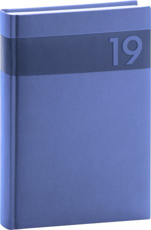 Denní diář Aprint 2019, modrý, 15 x 21 cm
