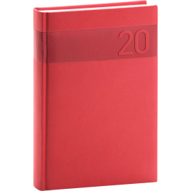 Daily diary Aprint red 2020, 15 × 21 cm