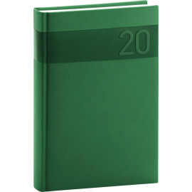Daily diary Aprint green 2020, 15 × 21 cm