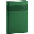 Denní diář Aprint 2020, zelený, 15 × 21 cm