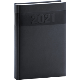 Daily diary Aprint black 2021, 15 × 21 cm