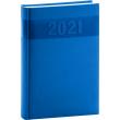 Denní diář Aprint 2021, modrý, 15 × 21 cm