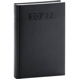 Denní diář Aprint 2022, černý, 15 × 21 cm