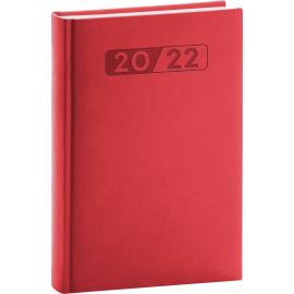 Denní diář Aprint 2022, červený, 15 × 21 cm