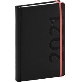 Denní diář Avilla 2021, černooranžový, 15 × 21 cm