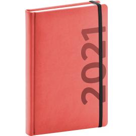 Denní diář Avilla 2021, oranžovočerný, 15 × 21 cm