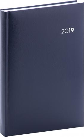 Denní diář Balacron 2019, modrý, 15 x 21 cm