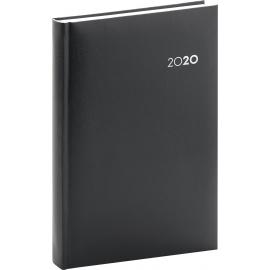 Denní diář Balacron 2020, černý, 15 × 21 cm