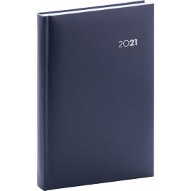 Denní diář Balacron 2021, tmavě modrý, 15 × 21 cm