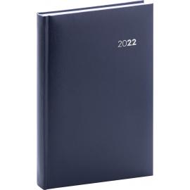 Denní diář Balacron 2022, tmavě modrý, 15 × 21 cm