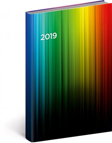 Denní diář Cambio 2019, barevný, 15 x 21 cm