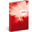 Denní diář Cambio 2019, červený, 15 x 21 cm