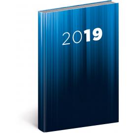 Denní diář Cambio 2019, modrý, 15 x 21 cm