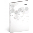 Denní diář Cambio Classic 2020, bílý, 15 × 21 cm
