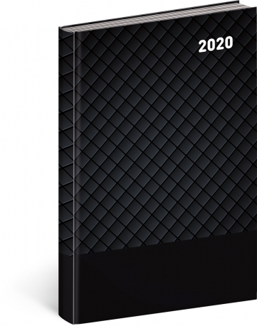 Denní diář Cambio Classic 2020, černý, 15 × 21 cm