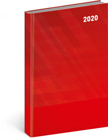 Denní diář Cambio Classic 2020, červený, 15 × 21 cm