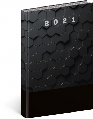 Denní diář Cambio Classic 2021, černý, 15 × 21 cm