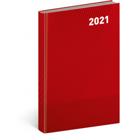 Daily diary Cambio Classic red 2021, 15 × 21 cm