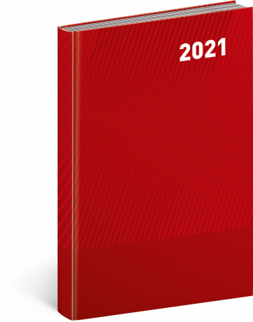 Denní diář Cambio Classic 2021, červený, 15 × 21 cm