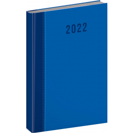 Denní diář Cambio Classic 2022, modrý, 15 × 21 cm