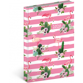 Daily diary Cambio Fun 2020, flamingo 15 × 21 cm