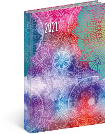 Denní diář Cambio Fun 2021, Mandala, 15 × 21 cm