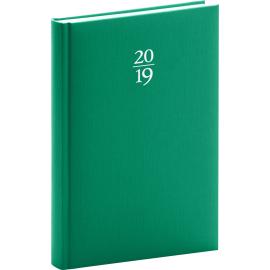 Denní diář Capys 2019, zelený,15 x 21 cm