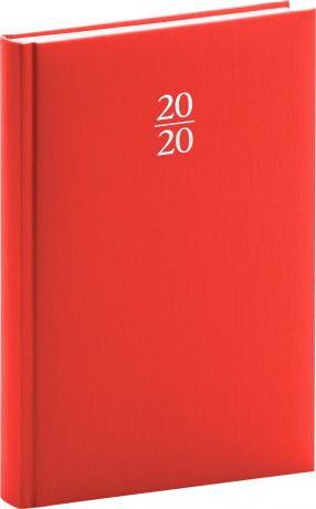 Denní diář Capys 2020, červený, 15 × 21 cm