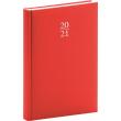Denní diář Capys 2021, červený, 15 × 21 cm