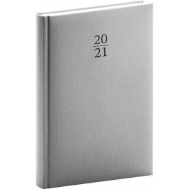 Daily diary Capys silver 2021, 15 × 21 cm