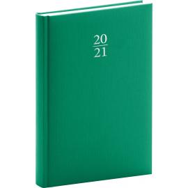 Denní diář Capys 2021, zelený, 15 × 21 cm