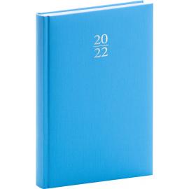 Denní diář Capys 2022, světle modrý, 15 × 21 cm