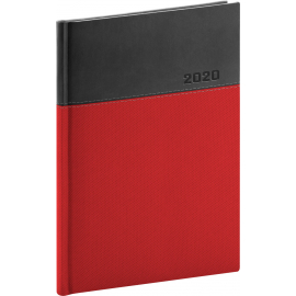 Daily diary Dado 2020, red-black, 15 × 21 cm