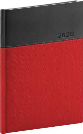 Denní diář Dado 2020, červenočerný, 15 × 21 cm