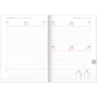 Daily diary Dado 2020, yellow-black, 15 × 21 cm