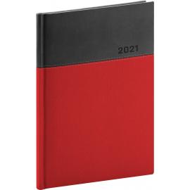 Denní diář Dado 2021, červenočerný, 15 × 21 cm