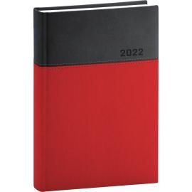 Denní diář Dado 2022, červenočerný, 15 × 21 cm