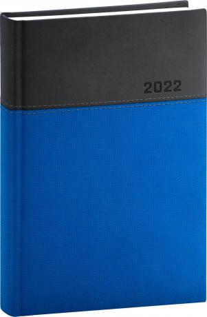 Denní diář Dado 2022, modročerný, 15 × 21 cm