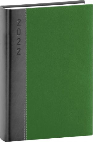 Denní diář Dakar 2022, šedozelený, 15 × 21 cm